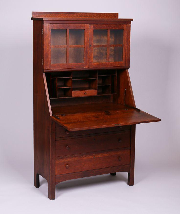 503 best images about mission arts crafts furniture on for Craftsman style desk plans