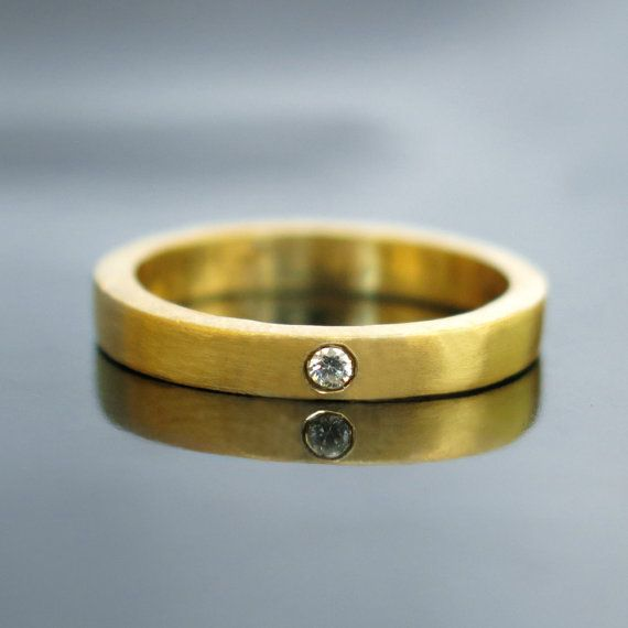 Gold diamond wedding band, Modern diamond engagement ring, Modern diamond ring, Simple diamond ring, Thin band ring, Thin diamond band