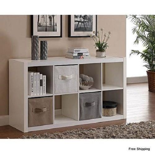 8-Cube Storage Organizer Art Books or Boxes Ideal for Tv 50 Living Room