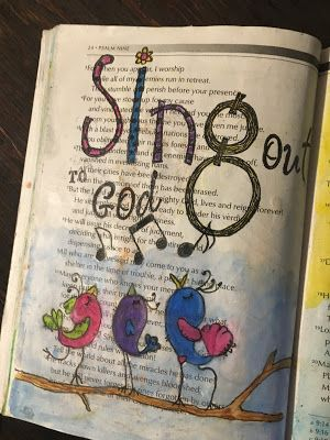 .....Scrappy Happy Mom: Bible Journaling Through the Psalms - Psalms 6-10
