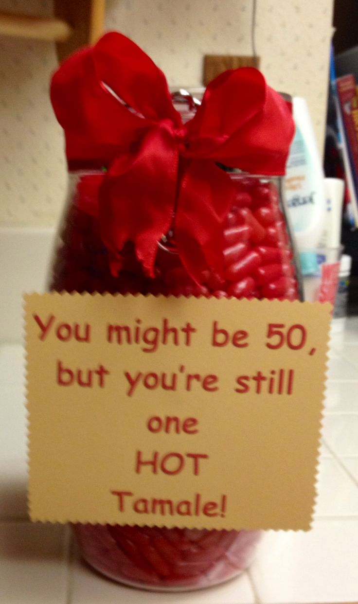 I made this for a 50th birthday gag gift. Filled the container with the candy, Hot Tamales.