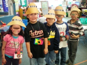 safari hats and cameras for our rainforest unit!