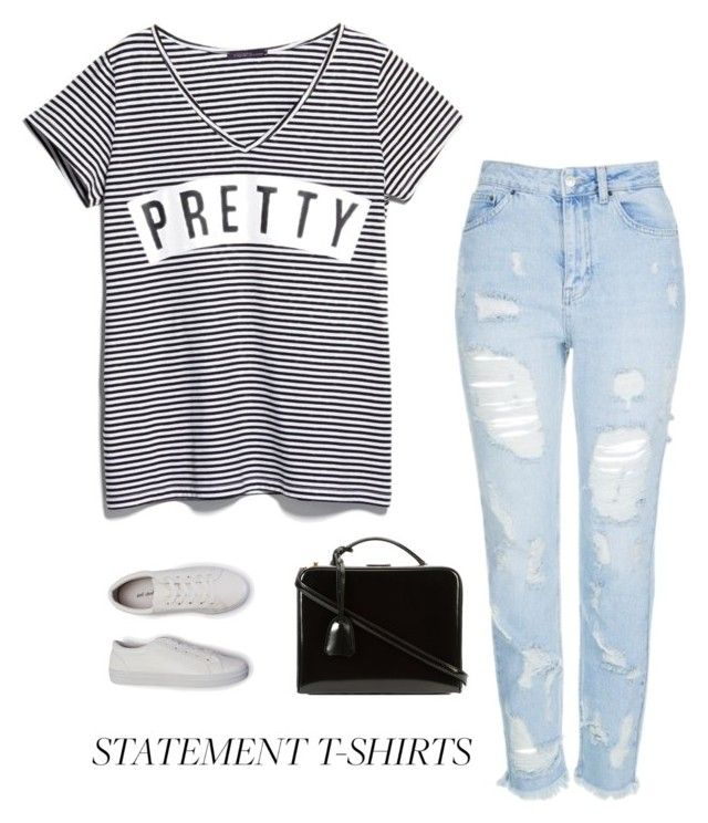 """""""You are beautiful no matter what they say..."""" by anetacerna ❤ liked on Polyvore featuring Topshop, Violeta by Mango, Mark Cross, denim, stripes, fashionset, Summerplaylist and stripedshirt"""