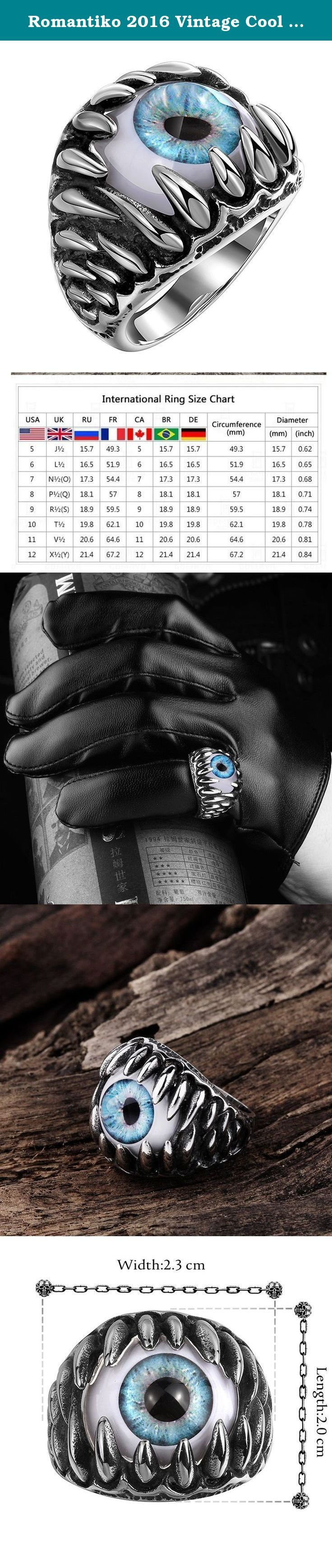 Romantiko 2016 Vintage Cool Stainless Steel Gothic Dragon Claw Devil Eye Biker Men's Ring Blue 8. Romantiko 2016 Vintage Cool Stainless Steel Gothic Dragon Claw Devil Eye Biker Men's Ring Stainless Steel jewelry does not tarnish and oxidize, which can last longer than other jewelries. It is able to endure a lot of wear and tear. And it is amazingly hypoallergenic. Such advantages make it a more popular accessory. Our own production suppliers to ensure that, on the basis of reasonable…