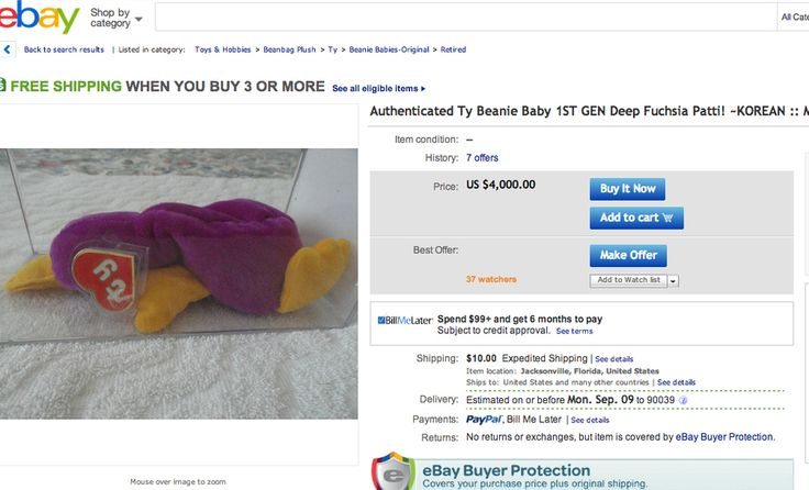 If, for some reason, the tag is in Korean, that's good for you. | Some Beanie Babies Are Still Worth Something