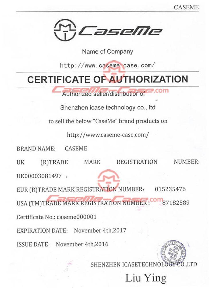 CaseMe-Case.com Official Certificate Of Authorization