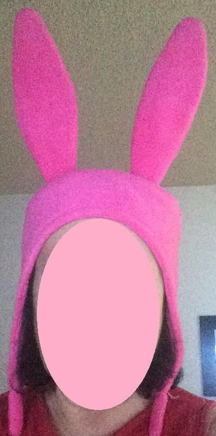 Pink Bunny Ears hat  Sizes: XS S M Lge & X Lge by SewLA1 on Etsy