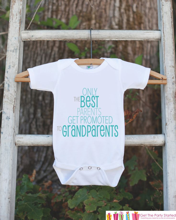 Pregnancy Announcement - Best Parents Get Promoted to Grandparents - Pregnancy Reveal Idea - Surprise Baby Announcement - Grandparents to Be