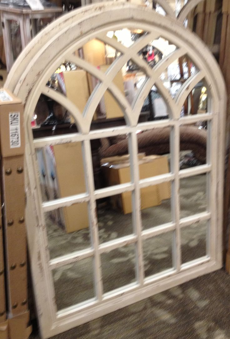 Window pane mirror window mirrors pinterest window for Window arch wall decor