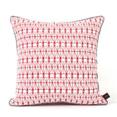 Nala Pillow Case - Love Lattice Red