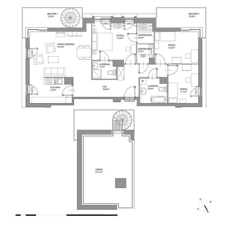 A243 - Piętro III - Budynek A2 - Plany mieszkań - Bursztynowa - Gdańsk - Mieszkania - Oferta - Invest Komfort