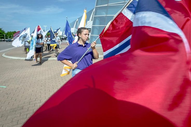 March of flags for the opening ceremonies of the Sister Cities International Conference . . . . . #SCI #sistercities #international #conference #flags #VirginiaBeach #VaBeach #Va #CityOfVaBeach #loveVaBeach #visitVaBeach #loveVa #visitVa #757collective #virginiacities #vapilot #lensblur #teamcanon #canon_photos #canonphotography #canon1dxmarkii #natgeoyourshot #decisivemoment #picoftheday #natgeo #nationalgeographic #cityphotog