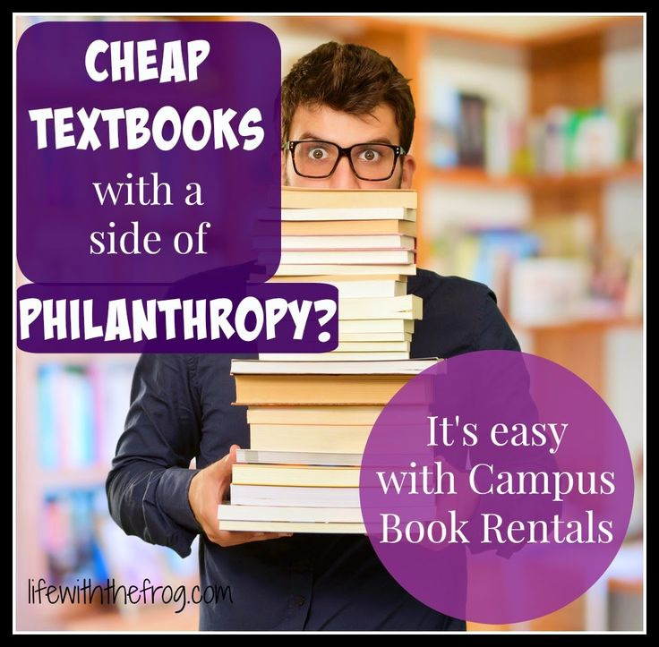 kissing the frog: Cheap textbooks and a side of philanthropy with Campus Book Rentals