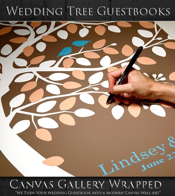 Wedding Tree Guestbook Alternative by WeddingTreePrints