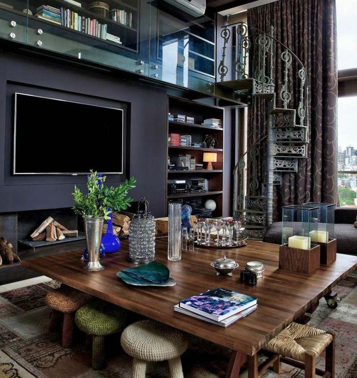 Wohnzimmer in dunklen Farben gestalten - modern und stilvoll