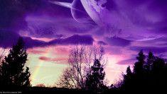 koláž planeta
