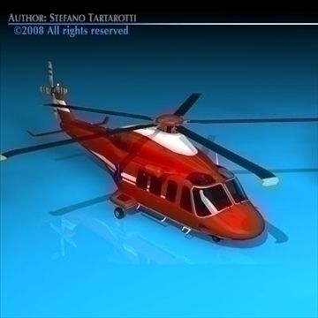 AW-139 air ambulance 3D Model-   Agusta Westland 139 air ambulance.Only cinema4d R10 has materials and textures.Other formats zip files have enclosed some texture. But it could need some texture reassigning. The rotors of the flying one are made with a alpha channel applied on a dish.alpha channel enclosed in textures.Polygons 11141Vertices 11873Side rescue winch can be removed.doos can not be opened.The AgustaWestland AW139 is a 15-seat medium sized twin-engined helicopter manufactured by…
