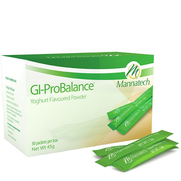 GI-ProBalance® Slim Sticks are easy to use and contain both prebiotics and probiotics to help give you the maximum support for the healthy gut. #gipro #guthealth #glyconutrition #mannaproducts #mannatechaustralasia