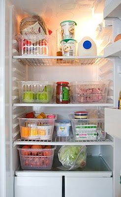 Refrigerator Organization-could very easily work for an RV refrigerator with a few modifications.