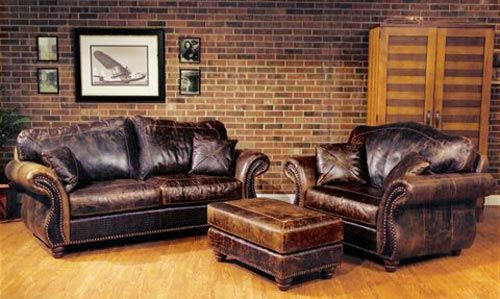 Sundance Furniture Leather Couch