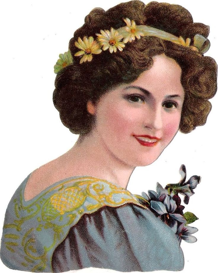 Oblaten Glanzbild scrap die cut chromo lady  13,5cm femme buste head portrait