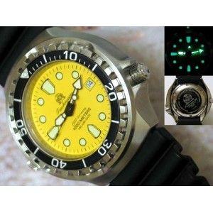 Tauchmeister T0039 quadrante giallo 1000mt orologio subacqueo