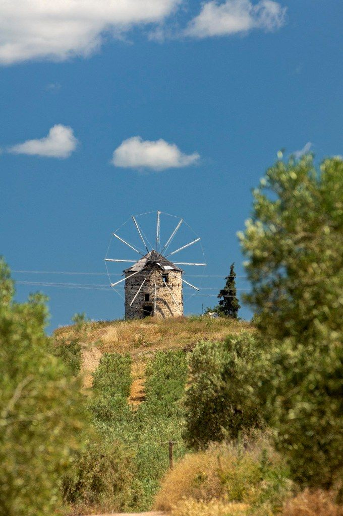 Old windmill in Ormylia