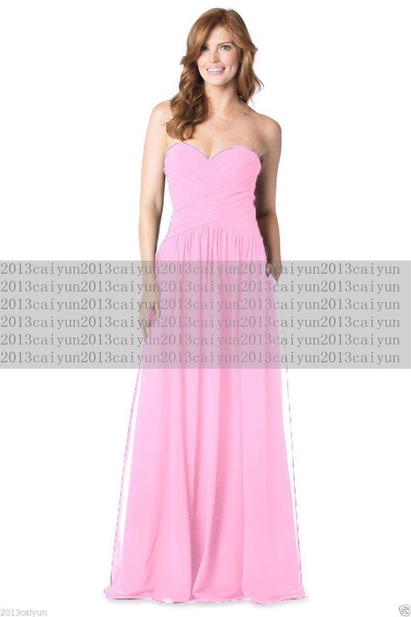 New Chiffon Simple Long Evening Ball Gown Party Prom Bridesmaid