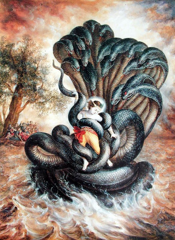Kalia Serpent and Krishna's fight to save Yamuna River