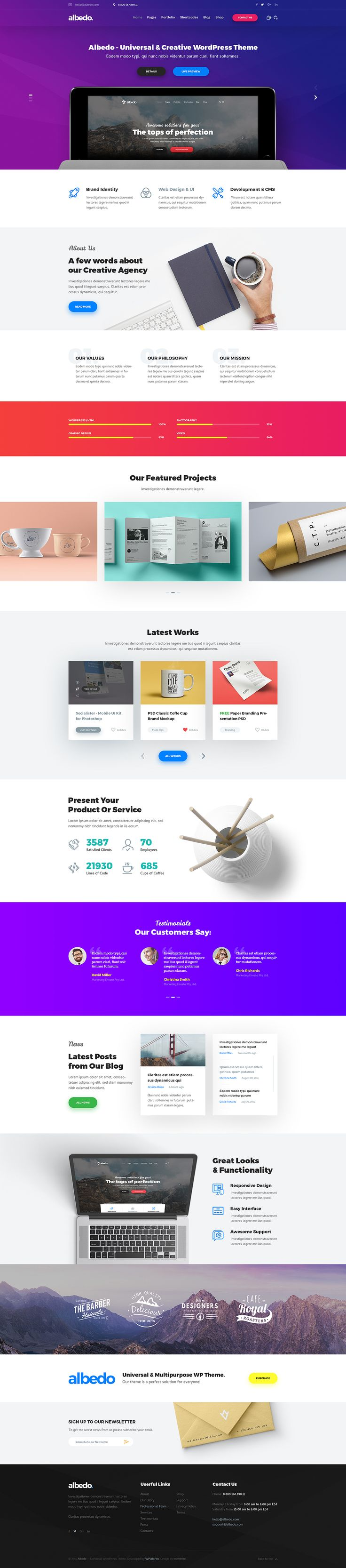 Albedo - Creative Agency PSD Template by themefire | ThemeForest