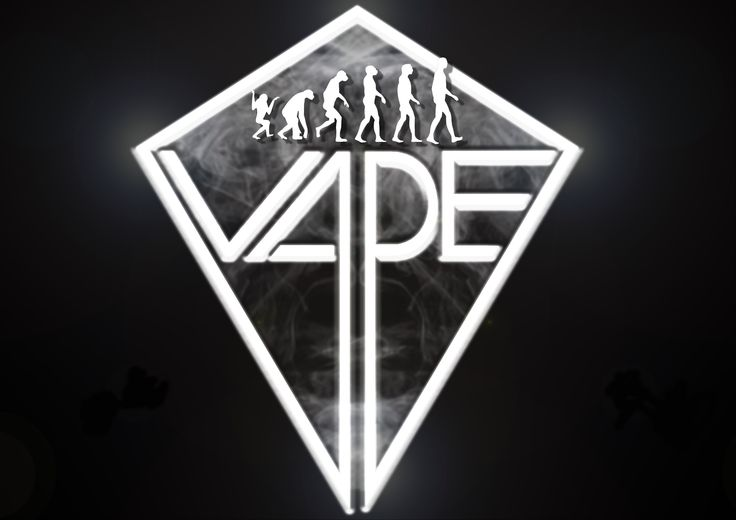 Vape logo with little Darwins, soon they started to grow......