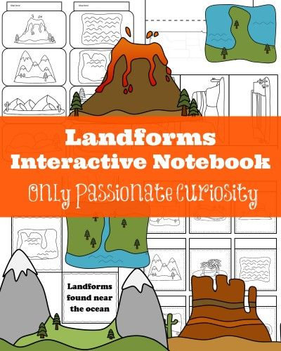 Only passionate Curiosity has a FREE Landforms Interactive Notebook. This Pack includes:  Landforms Visual Dictionary Landforms Layer Book Mapping the L