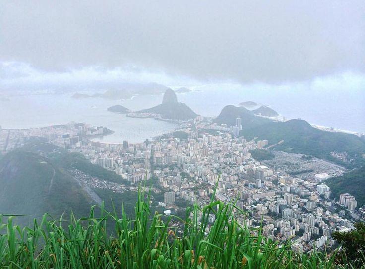 Alt view through the mist to the beautiful city below... LucalRio #Praia #RJ #RiodeJaneiro #Rio #Brazil #Brasil #Errejota #Lindo #Lights#View #Coast #Pordosol #Vacation #Picoftheday #Sun #Sky #Tropical #Cidademaravilhosa #Daylight #Beachlife #Sunrise #Naturalbeauty #Yus #Carioca #Party #Cariocas #View #Views #Nofilter  Source: @padmatia