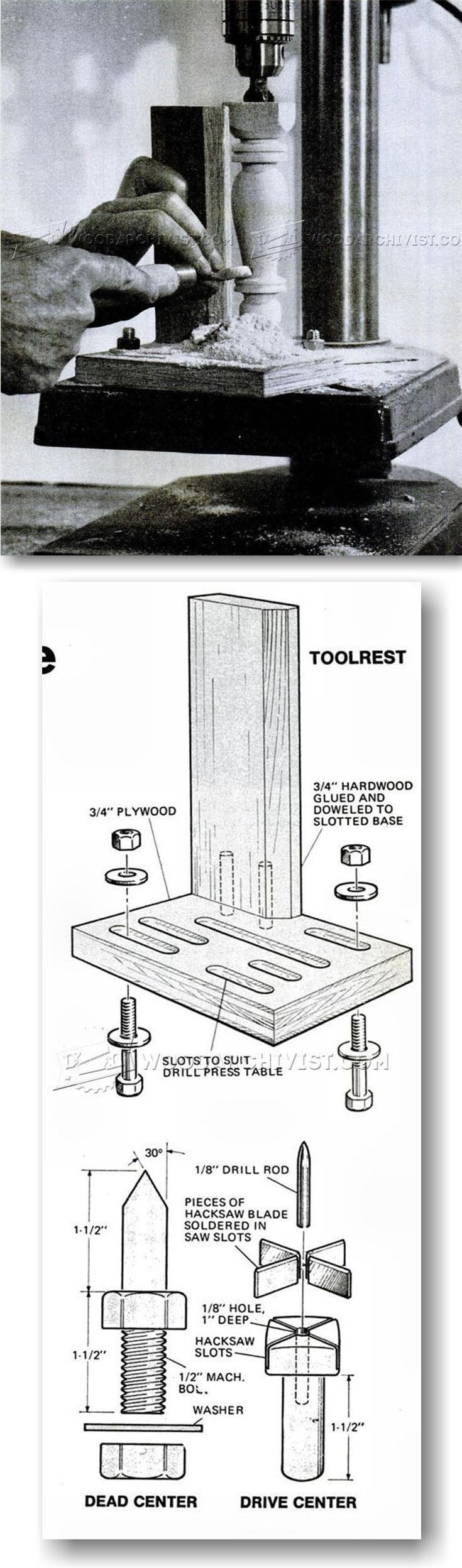 DIY Drill Press Lathe - Lathe Tips, Jigs and Fixtures   WoodArchivist.com