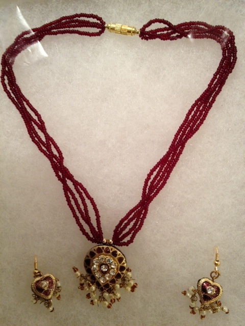 """Now available for a limited time at Herbally Radiant store- """"Lach"""" tribal Indian jewelry from Jaipur, India.  Buy Organic Skin Care at www.shop.herballyradiant.com"""