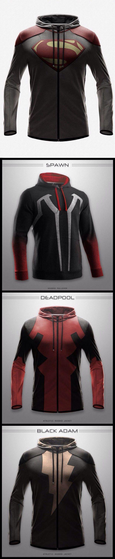 Best nerd hoodies ever!- Deadpool is the hubby's favorite. too bad these hoodies are real!