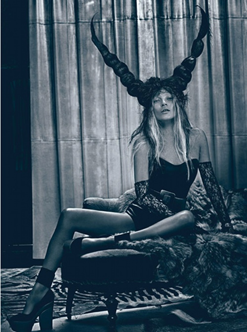 'bad' Kate Moss for W Mag March 2012