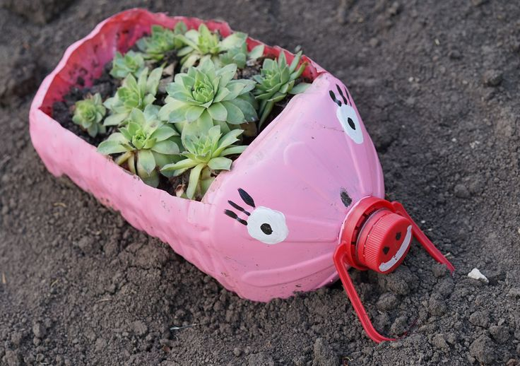 Pig pot from 5 liter plastic bottle