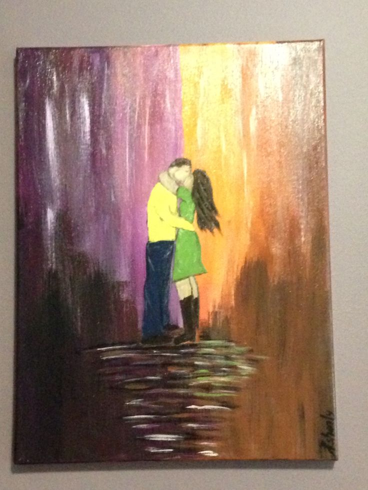 "Couples acrylic painting  ""In the Zone"""