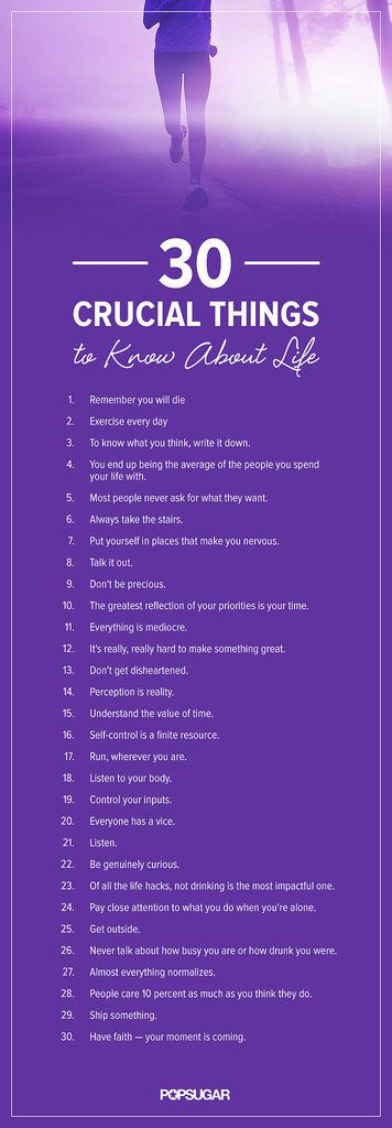 For the Vision Board! 30 Crucial Things to Know About Life