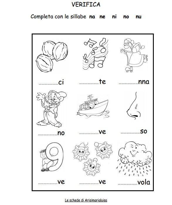 Il sito di Arisimarialuisa Schede lettere e sillabe. http://www.arisimarialuisa.it/w/wp-content/uploads/2013/01/N2-sillabe.pdf