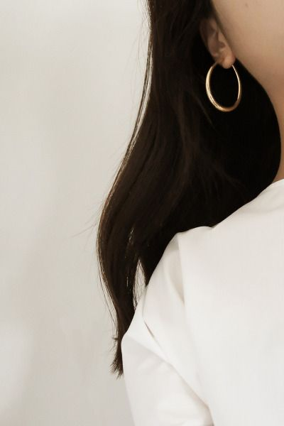 curated by minimalism.co — @commonmuseco wearing Tilda hoop earring