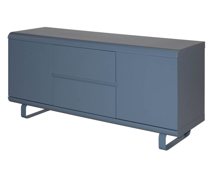 Credenza a 2 ante e 2 cassetti Nancy grigio - 145x69x45 cm   Dalani Home & Living