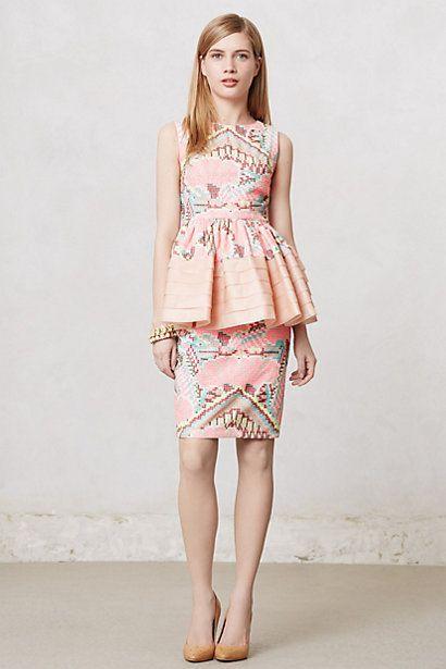 Anthropologie Daksha Stitched Blouse & Skirt