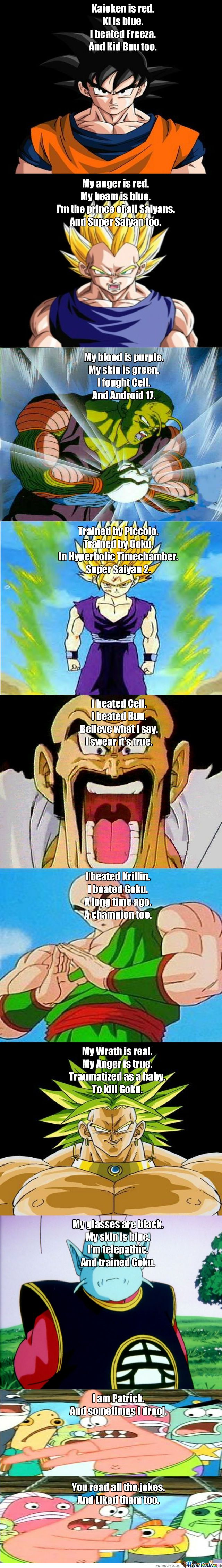 Funny Dbz Poems - Meme Center - If you love Saiyan T-shirt & Hoodie, Click the Picture to see. . Sure you 'll like them. Thanks