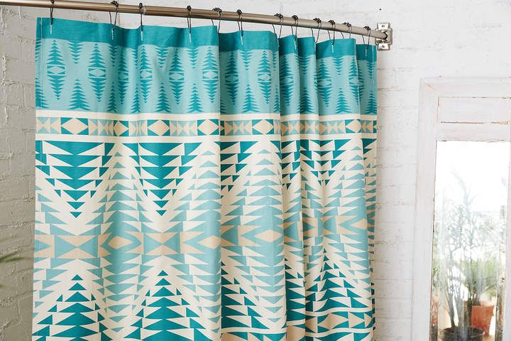 Pendleton Shower Curtain Teal Affiliate