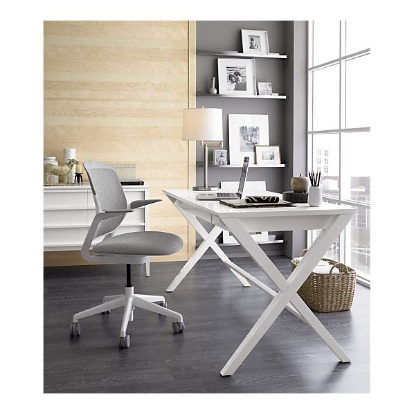 Love the glossy white furniture with stainless shelving.#Repin By:Pinterest++ for iPad#