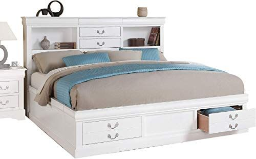 New ACME Louis Philippe III Queen Bed w Storage - 24490Q - White. Bedroom Furniture [$659]topbuytopoffer