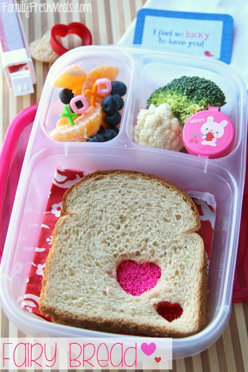 @EasyLunchboxes Valentine's day Lunchbox Ideas ---- Fairy Bread Sandwich