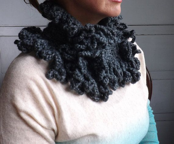 Something perfect for winter  Etsy shop https://www.etsy.com/uk/listing/247940931/womans-grey-cowl-ladies-chunky-winter
